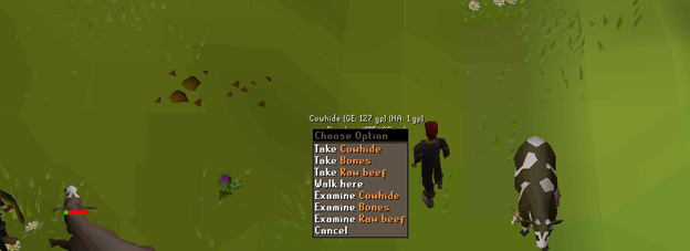Picking Cowhides in OSRS